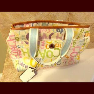 Coach scribbles pastel handbag